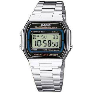 Casio Retro rustfri stål quartz multifunktion (593) Herre / ungdom ur, model A164WA-1VES